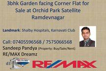 3bhk flat for sale in Orchid park Satellite Ramdevnagar near Karnavati Club