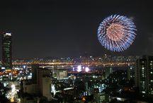 2016 Fireworks Festival along the Han river, Seoul