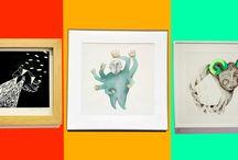 Arts Graphiques / Illegante, la marque d'Élodie Paladino. Dessin, linogravure, sérigraphie, peinture, broderies d'art, édition, illustration, accessoires.