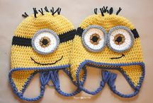 Crochet/Knitting projects / Minion hats