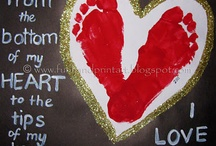 handprint and footprint arts and crafts / by ourania ash