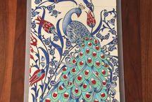 ayna tavuskuşu mozaik