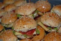 Sugestões de alimentos para servir em festas.