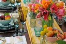 Tablescapes / Beautiful table settings, how to set a table
