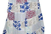 Boho Patchwork Maxi Skirt