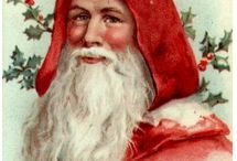 Christmas - Santas / Paintings and photographs of Santa Clause / by Joyce Roeder