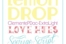 Free Fonts and Free Printables / by Paula Biggs for Frog Prince Paperie