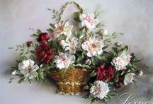 çiçek sepetleri