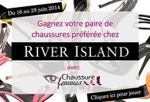 Jeu concours River Island / Jusqu'au 29 juin 2014, gagnez votre paire de chaussures préférée dans la collection River Island avec chaussure-femmes.com. Pour jouer, cliquez ici : http://www.chaussure-femmes.com/concours-chaussure-femmes-offre-paire-chaussures-preferee-chez-river-island-57988