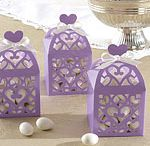 Lilac wedding favours