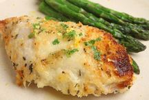 Baked Chicken with Muenster cheese