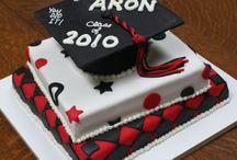 Grad cake and 50th cake