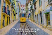 Inspírate y viaja / Descubre tu lado más viajero a través de frases que te inspirarán a volar.