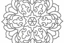 Mandala / Different mandala patterns to paint