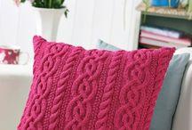 Små strikkeprosjekt til hjemmet