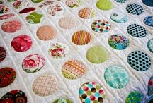 patchwork quilt from baby blankets