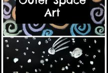 Space and the earth / Preschool craft ideas