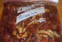 Food - Crock Pot (dump meals) / Slow cooker/crockpot meals that you can...   1. Dump all the meals ingredients into a zip lock freezer bag ahead of time.  2. Freeze 3. Defrost  4. Dump into cooker and cook