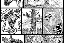 adult coloring pages .. zentangles