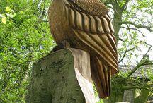 _птицы_резьба по дереву