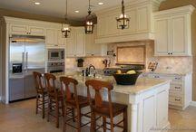 Creamy White Kitchens. / Creamy, off white, antique white kitchens.