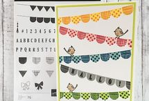Pick a Pennant / Stampin' Up! Pick a Pennant Stamp Set and Playful Pennants Dies