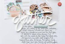 Ali E Story Kit Layouts / Scrapbooking