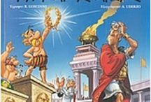 Greek Comics Αστερίξ / Δύο εξαιρετικοί Γάλλοι δημιουργοί ο Ρενέ Γκοσυννί και ο  Αλμπέρ Ουντερζό μεγάλωσαν μια ολόκληρη γενιά, ανά τον κόσμο, με τις ιστορίες τους. Αναμφίβολα ένα παγκόσμιο κόμικ, που ακόμα νοσταλγούμε όλοι και βλέπουμε να ζωντανεύει στη μεγάλη οθόνη ανά τακτά χρονικά διαστήματα, ο Αστερίξ, ο... εύσωμος φίλος του Οβελίξ, ο Καίσαρας, το γαλατικό χωριό και οι.., τρελοί Ρωμαίοι, ακόμα μας κάνουν και γελάμε με τις ξεκαρδιστικές ιστορίες τους.