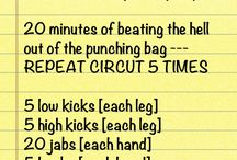 Punching bag workout
