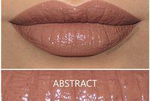 Lippen und Mackeup