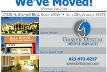 Dr. Gasser Moved to A New Location / We've moved to a new Location @ 17220 North Boswell Boulevard, #200W, Sun City, AZ 85373