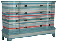 Aqua & Coral Coastal Furnishings / Brighten up your home with colorful coastal furniture – get the feel of summer all year long.