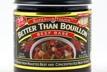 Premium Bases / Better than Bouillon Concentrated Stocks are made from meat (or vegetables). This gives them a richer, more robust flavor than ordinary bouillons or soup bases. Our Chicken tastes like Chicken because it IS Chicken; our beef tastes like beef because it IS beef. No Fat, Lower Sodium. Better Than Bouillon Concentrated Stocks are fat free and have 1/3 less salt than ordinary bouillons.