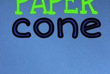 Paper Cones/ decorations