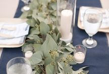 Centerpieces-Green, White and Gold