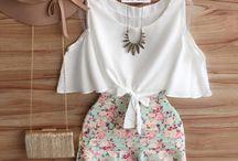 blusa y falda corta conjunto