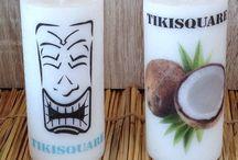 Décoration polynésienne / Tikis polynésiens et produits dérivés, Tikis sculpture en pierre reconstituée Tikis sculpture en bois