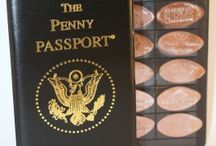 Pressed Penny Accessories / We carry several pressed penny accessories. Wear your penny everywhere to show it off with any of our Pennybandz products. You can store all of your pennies in our Penny Passport Books. Order yours at www.CustomPenny.com