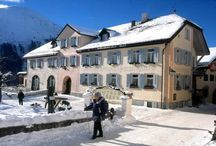 Guarda – Hotel Meisser (winter walking holiday) / The sunny Engadine Valley in eastern Switzerland is one of the country's best-kept secrets. It is a place where winter is truly magical, with quintessentially Alpine scenery and picture-book villages whose streets transport you back in time as you walk amid the distinctive stone houses decorated with pastel murals. http://po.st/CWs1VB