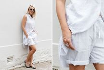 Laid back sophisticated style for the warmer weather / Claire Fabb from Style by Yellow Button shares her styling tips for must have outfits this Summer | Wearing Rosa Linen Short & Quinn Linen Dress.  This very moment is the moment we yearn for all year long. The sun is shining, the ocean is sparkling and we are finally here. January and hot summer holidays.  It calls for a cool laid back sophisticated style that can work for days by the beach to back yard summer bbq's.  Read the blog > http://goo.gl/DxNYVB