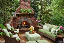 Deck fireplace