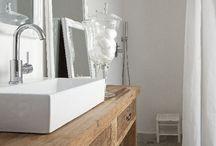 CREATE. Salle de bain bois & blanc