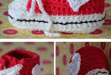 sapatinhos crochê - booties for baby