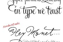 Fonts / by Cathryn McAleavey