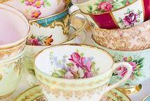 Tea cups, tea pots and other china / Beautiful china