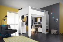.✘.Inspi DIMIX mezzanine .✘. / Futurs adultes : avec Dimix, affirmez-vous, prenez de la hauteur ! Créez avec le lit mezzanine Dimix, un espace de vie à votre image, et optimisé pour conjuguer jour et nuit ! Un lit idéal pour aménager votre chambre studio ! / by Gautier