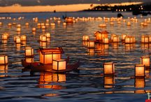 Water and Candlelight / There is something so seductive yet calming about candlelight on the water. Indulge and enjoy. <3