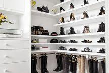 Stand in closet