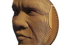 sculptures en carton