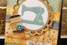 greeting cards with sewing theme
